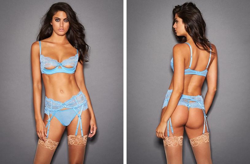 open bust bra