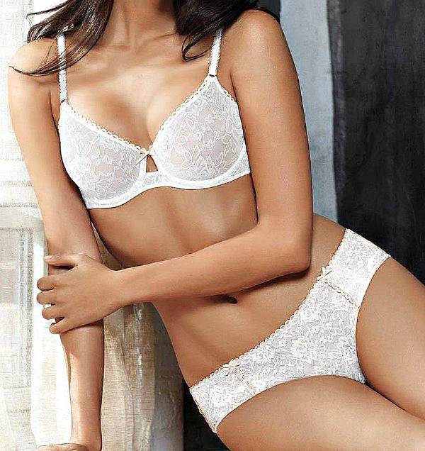 white lace bras