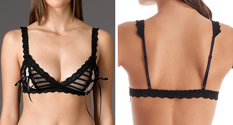 open tip bras